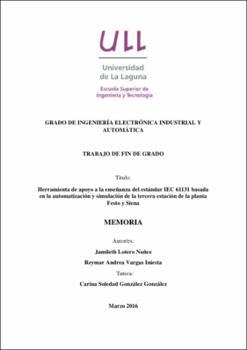 Herramienta de apoyo a la enseñanza del estándar IEC 61131